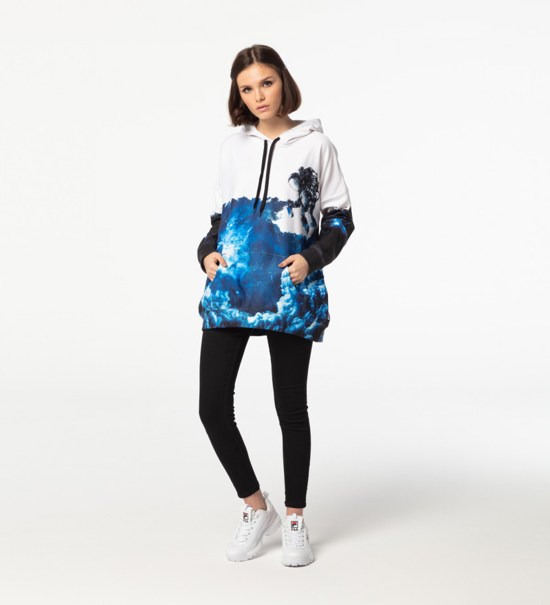 Bluza z kapturem oversize Space Art