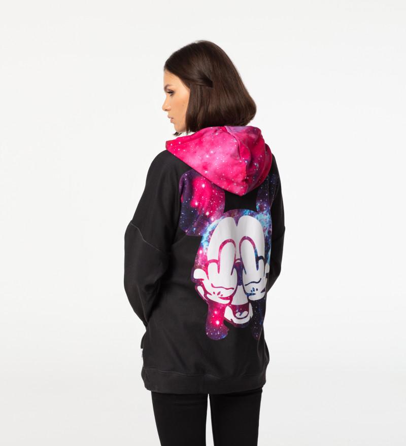 Black Rebel oversized hoodie