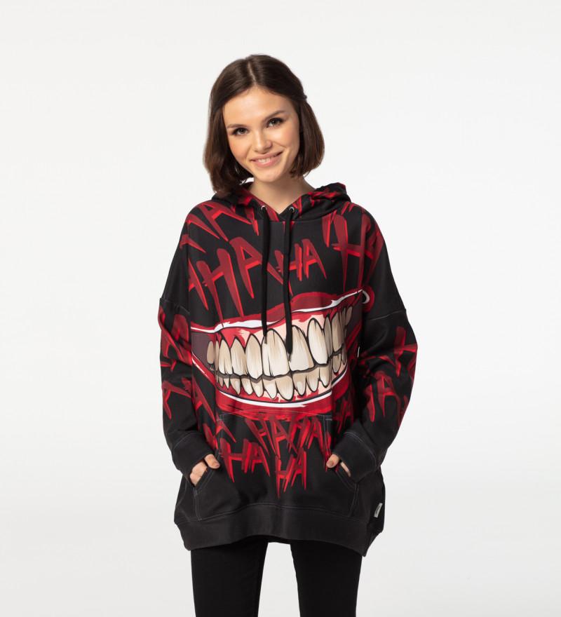 Hahaha Black oversized hoodie