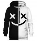 B&W Face hoodie