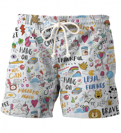 Doodles swim shorts