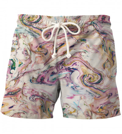 White Marble swim shorts