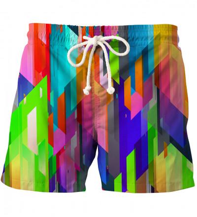 Geometric Explosion swim shorts
