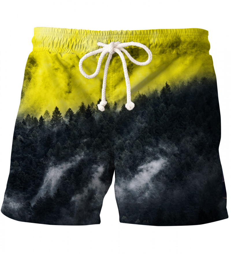 Mighty Forest Yellow swim shorts
