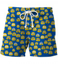 Minoemoji Blue swim shorts