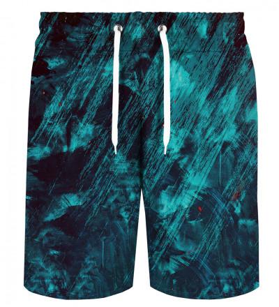 Blue Scratch shorts