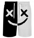 B&W Face shorts