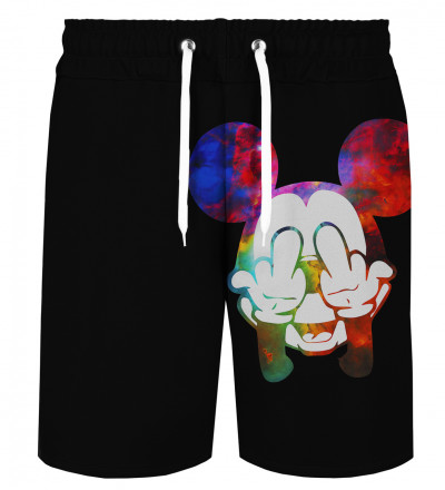 Rebel Gradient Black shorts