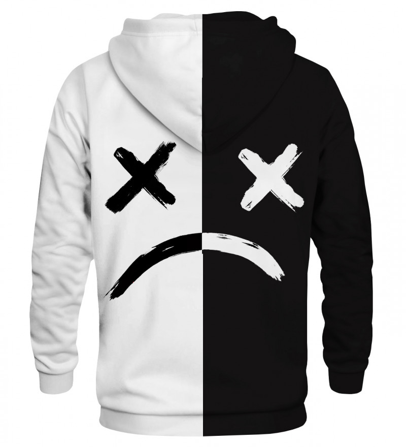 Bluza z kapturem Sad BW Face