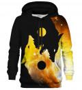 Gold Yin Yang Wolf hoodie