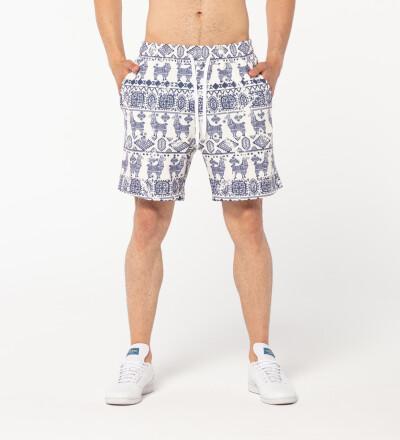 Lama Pattern shorts