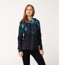 Dark Jungle womens zip up printed hoodie