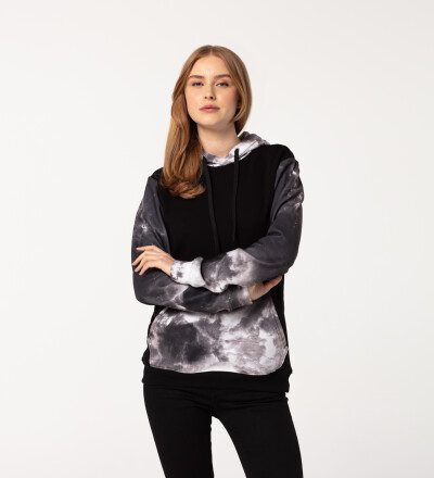 Damska bawełniana bluza z kapturem Grunge