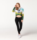 Happy Landing cropped hoodie without pocket