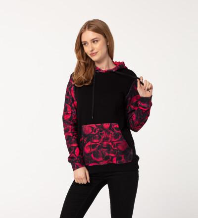 Skulls womens cotton hoodie