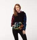 Pokebong Black Gradient womens cotton hoodie