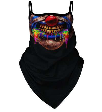 Clown bandana face mask