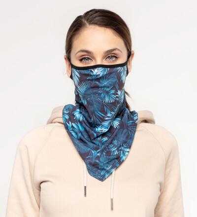 Paradise is here womens bandana face mask