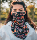 Tiger womens bandana face mask