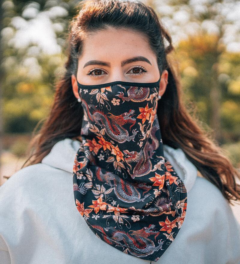 Venom womens bandana face mask