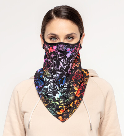 Black Walt Dealer womens bandana face mask