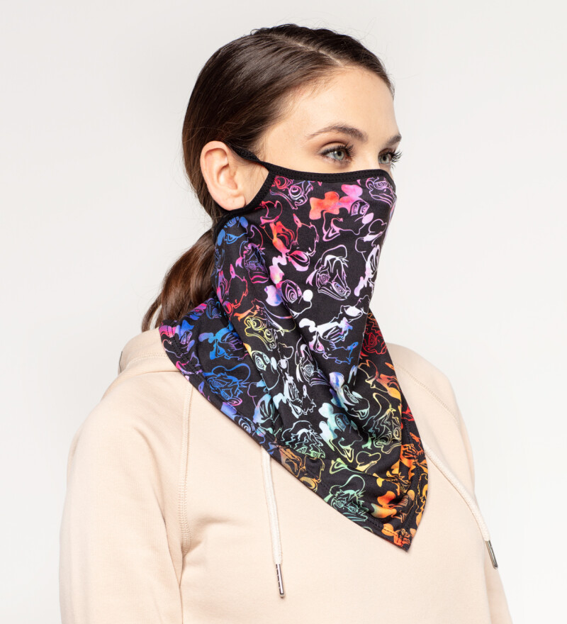 Black Walt Dealer womens bandana face mask