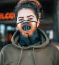 Cat Smile womens bandana face mask