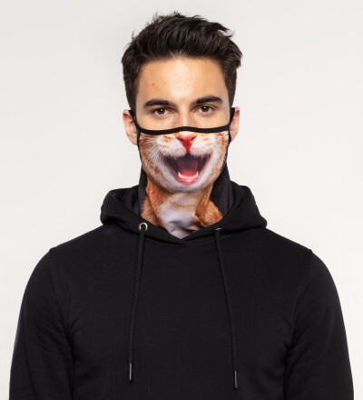 Cat Smile bandana face mask