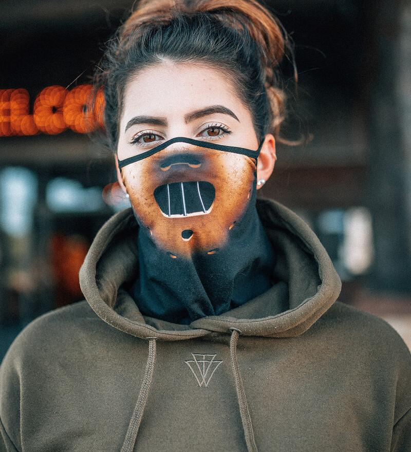 Clown womens bandana face mask