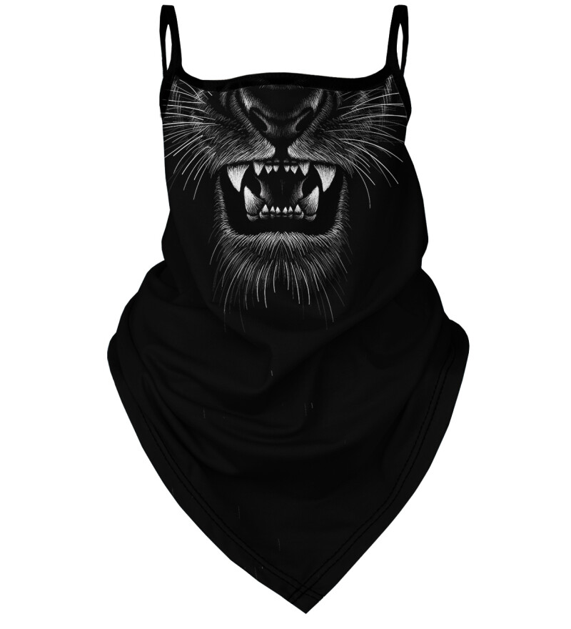 Black Tiger womens bandana face mask