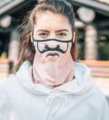 Black Tiger womens bandana face mask