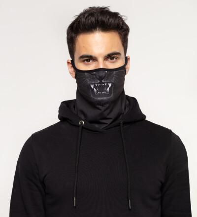 Black Tiger bandana face mask