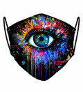 Black Fullprint womens face mask