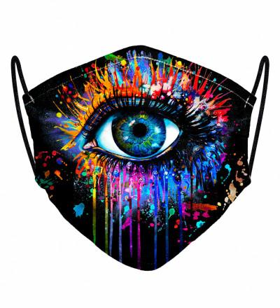 Black Fullprint womens face mask