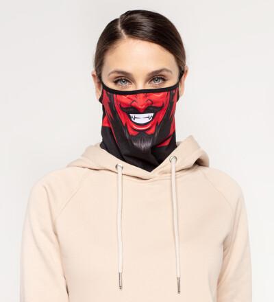 Devil womens bandana face mask