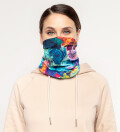 Paintjob womens neck warmer