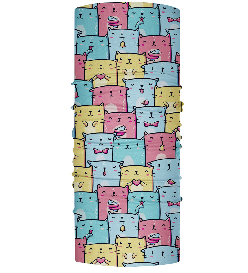 Colorful Cats Pattern womens neck warmer