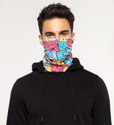 Colorful Cats Pattern neck warmer