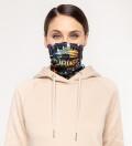 Black Walt Dealer womens neck warmer