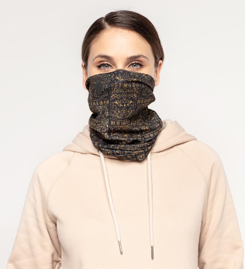 Day of Dead womens neck warmer
