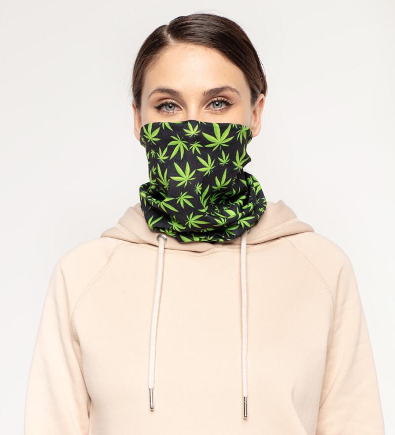 Weed Pattern womens neck warmer