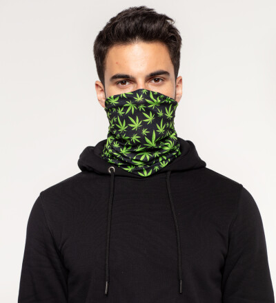 Weed Pattern neck warmer