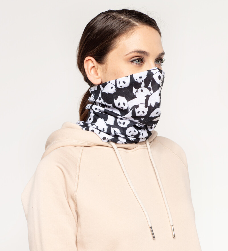 Less Hate More Panda womens neck warmer