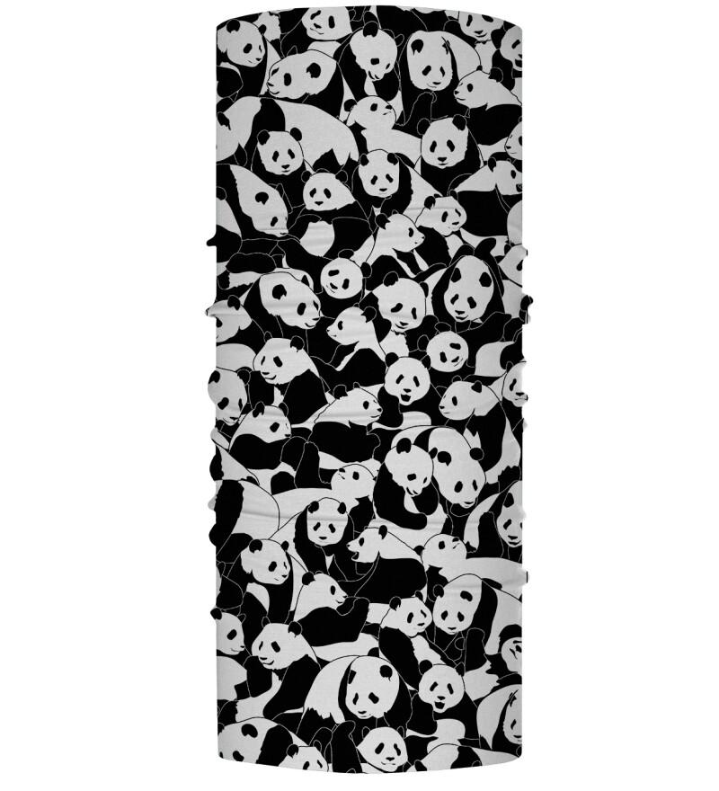 Damski komin sportowy Less Hate More Panda