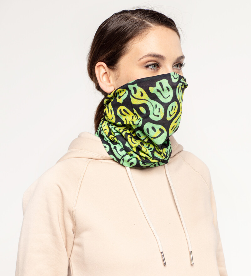 Melted Smileys womens neck warmer