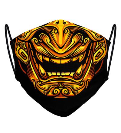 Golden Samurai face mask