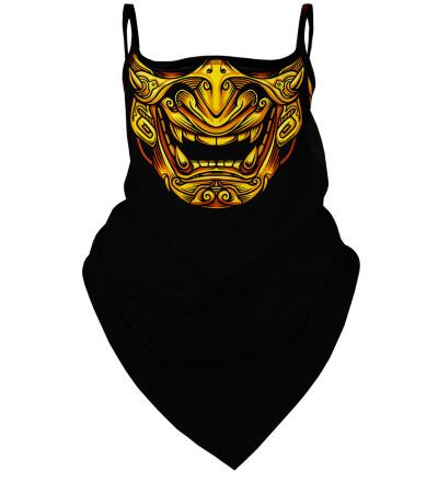 Golden Samurai bandana face mask