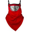 Red Warrior bandana face mask
