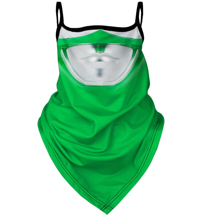 Green Warrior bandana face mask