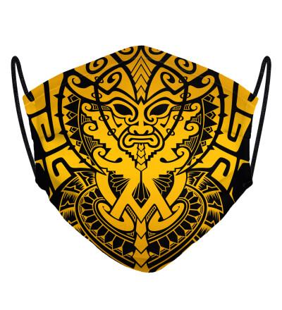 Golden Polynesian face mask